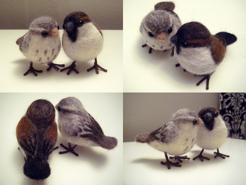 Love Birds Needle Felted Cake Topper  - >> joeandcheryl.com <<