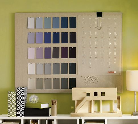 DIY Linen Covered Gold Polka Dot Pinboard  - >> joeandcheryl.com <<