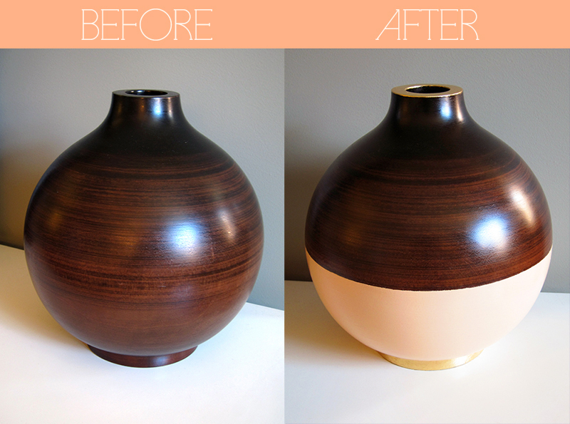 Wooden Vase Update Using Paint And Gold Leaf Joe Cheryl