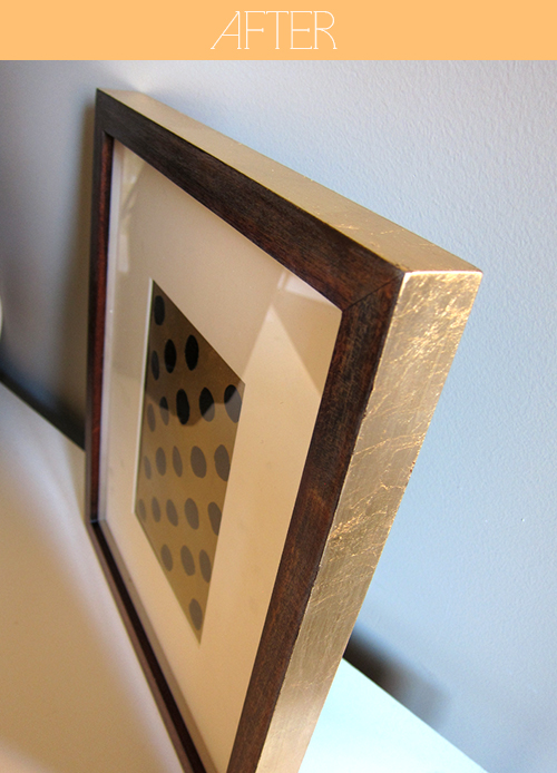 A Simple DIY Picture Frame Update - Gold Leafing  - >> joeandcheryl.com <<