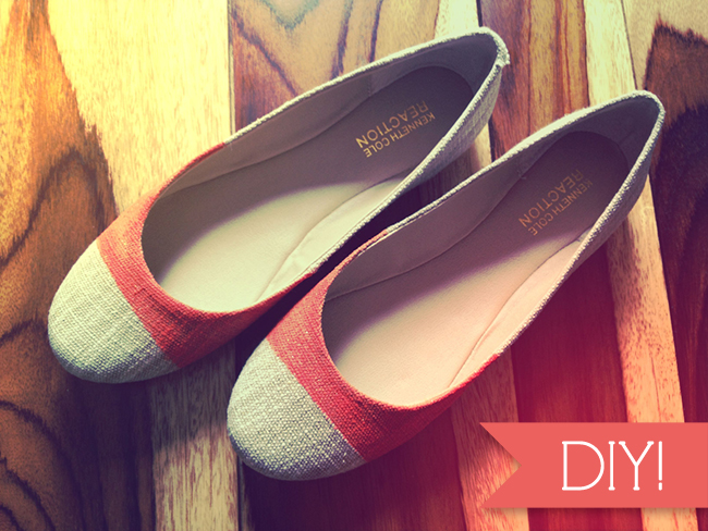 DIY Painted Ballet Flat Knock Offs  - << joeandcheryl.com >>