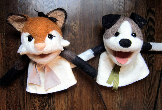 Hand Made Wet Felted Puppets - << joeandcheryl.com >>