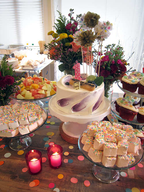 Alexis's Confetti Themed First Birthday Party - << joeandcheryl.com >>