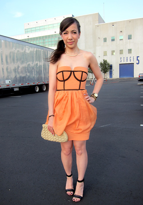 I Made Another Dress!  My New Cantaloupe Bustier Dress - << joeandcheryl.com >>