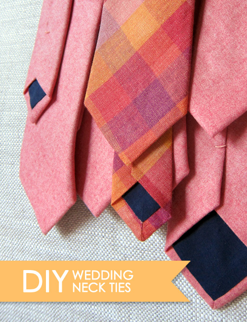 DIY Wedding Skinny Ties - >> joeandcheryl.com <<