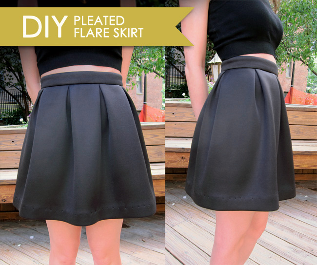 DIY Pleated Flare Skirt - << joeandcheryl.com >>
