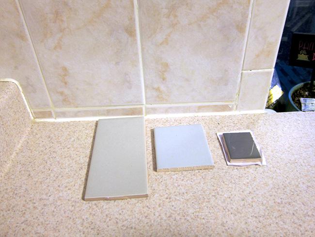 Major DIY's in the Kitchen: PART 2 – New Backsplash - << joeandcheryl.com >>