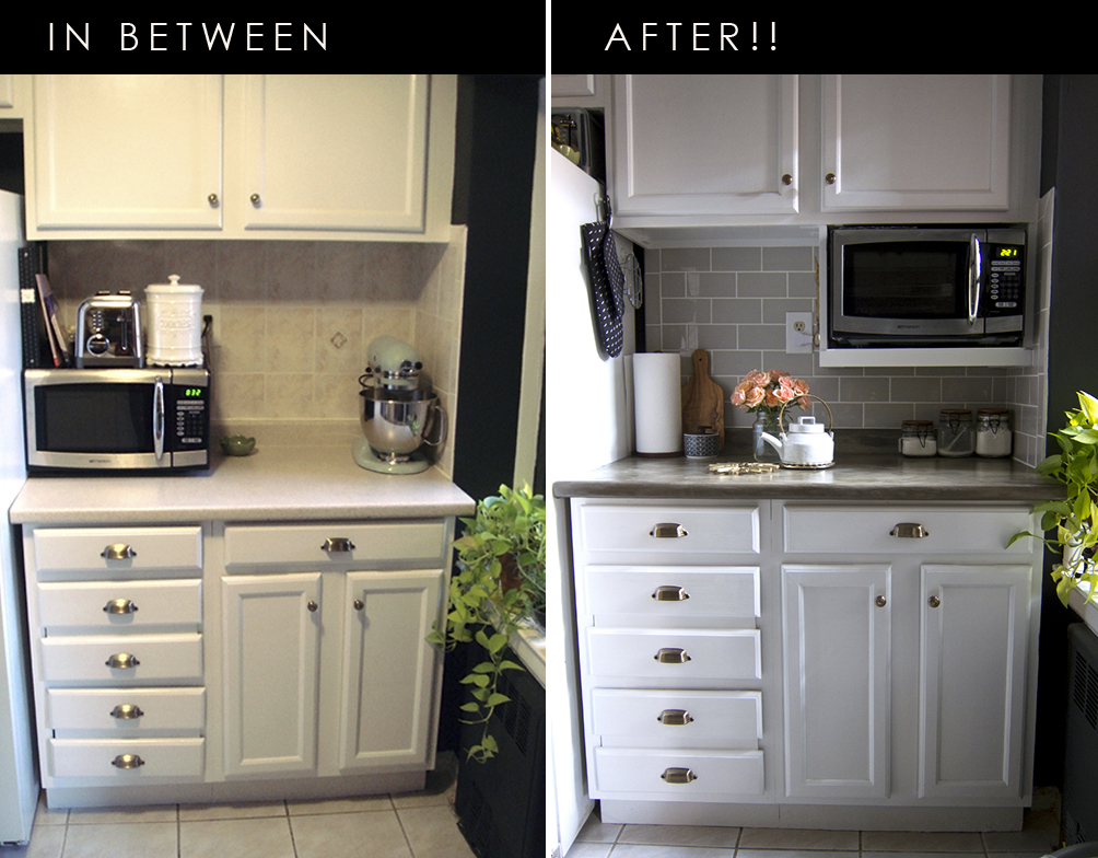 Major DIY's in the Kitchen: PART 4 – Final Before and After Photos - << joeandcheryl.com >>