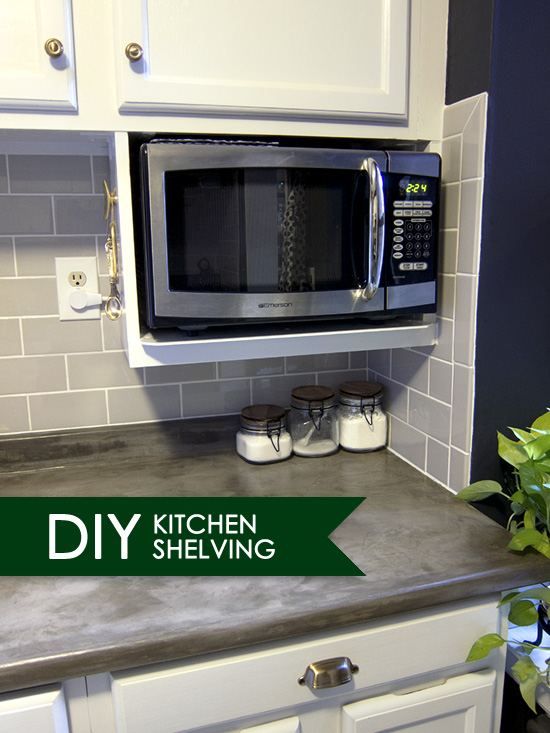 Major DIY's in the Kitchen: PART 3 – Additional Shelving - << joeandcheryl.com >>