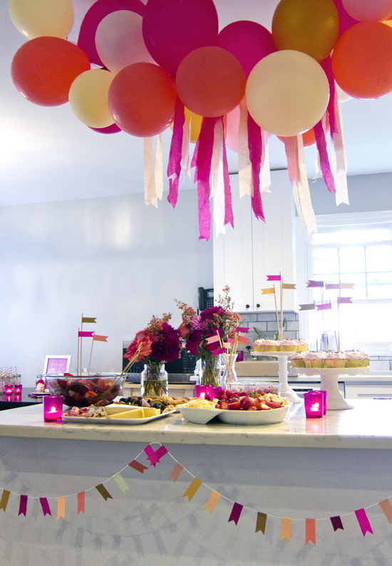 A Magenta and Gold Baby Shower - >> joeandcheryl.com <<